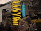 Uprated front shocks and springs fitted to customers vehicle