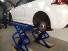 Scissor Lift at J C Motor Sevices Ltd MOT Test and Service Centre in New Mills, SK22 3EX