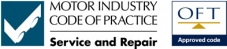 Subscriber to Motor Industry Code of Practice approved by the RAC and Office of Fair Trading